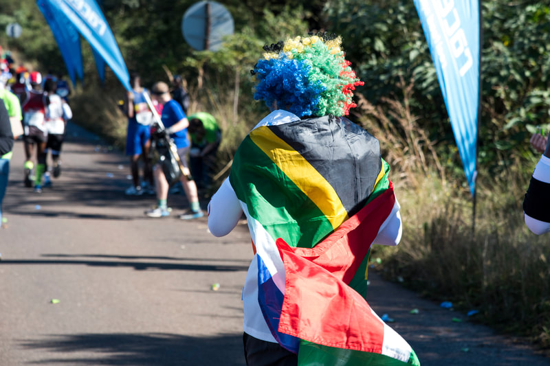 South African spirit during the 2019 Comrades Marathon that took place on 9 June 2019. Image: © BOOGS Photography / Andrew Mc Fadden