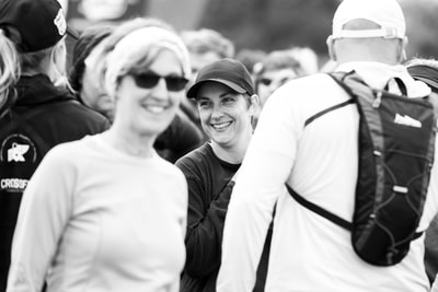 All smiles before the runners set off on their trail run - (c) Andrew Mc Fadden / BOOGS Photography