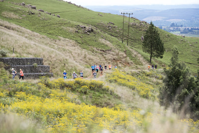 Runners slowly running up one of the many hills in the midlands, but the view at the top is worth it! - (c) Andrew Mc Fadden / BOOGS Photography