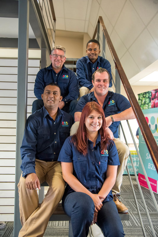 Team members of HelloChoice, I recently had the pleasure of updating the look of the HelloChoice company in Pietermaritzburg. Image: BOOGS Photography / Andrew Mc Fadden