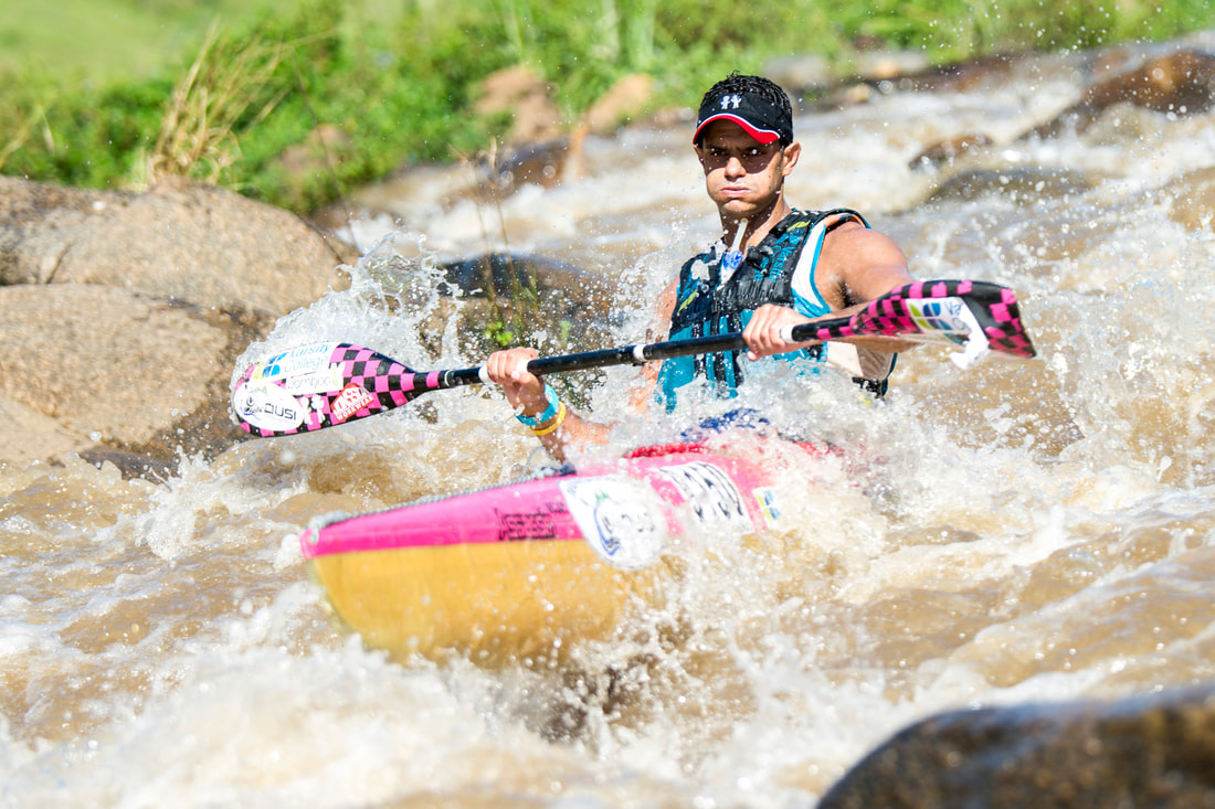 Jo Taylor during the Dusi Canoe Marathon during #ThrowBackThursday . Image: BOOGS Photography / Andrew Mc Fadden