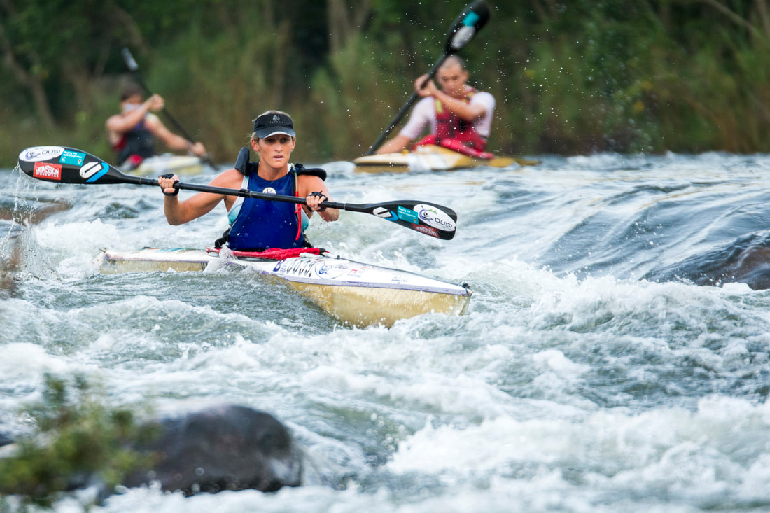 Jenna Ward during the Dusi Canoe Marathon during #ThrowBackThursday . Image: BOOGS Photography / Andrew Mc Fadden