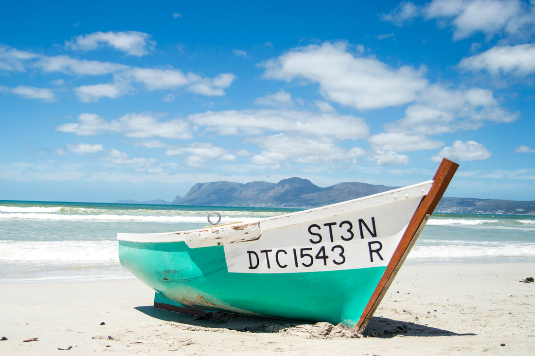 Fishing boat in Muizenberg, Cape Town - Travel Tuesday - BOOGS Photography / Andrew Mc Fadden